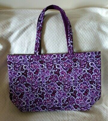 727e7ffe2 NWT Vera Bradley Iconic Grand Tote in Lilac Paisley Quilted Cotton  #190423-053
