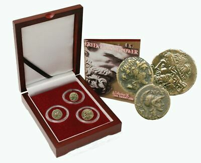 Greek Gods of Power: Box of 3 Ancient Greek Bronze Coins