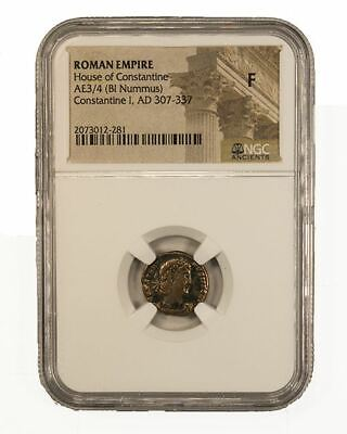 Roman AE of  Constantine I, the Great (AD 272-337) NGC (F)