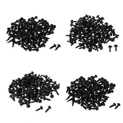 100pcs 4/6/8/18mm Black Acrylic Safety Doll Toy Round Eyes DIY Accessories