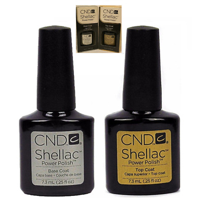 CND Shellac Power Polish Gel UV Base Coat and Top Coat 7.3ml - New & Free P&P