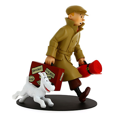 Tintin Milou and the Suitcase They Arrive Hergé Moulinsart Tim Snowy