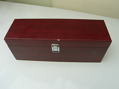 Mdf Box Mahogany Colour Very Good Condition Small Dent By Catch