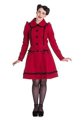 8d6fe728fa8b Hell Bunny Gothic Victorian Vintage Retro Swing 50s Courtney Coat Plus Sizes