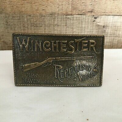 Vintage - Winchester Repeating Arms Belt Buckle - Rifle