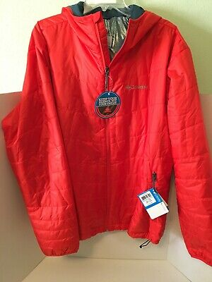 NEW COLUMBIA MIGHTY Light Hooded Jacket Black Mens Size 1X