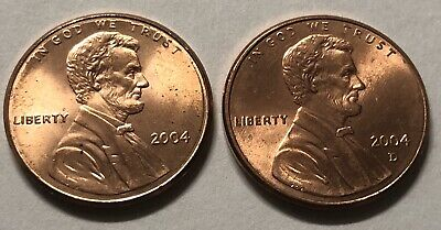 2004 P and D 2 Coin Lincoln Memorial Penny Set In AU Condition