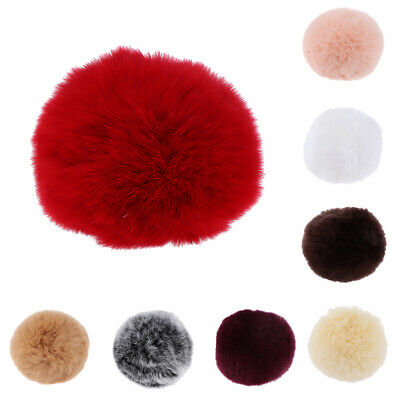 8cm Pompom Ball Faux Rabbit Fur Fluff Balls for Keyring DIY Hat Accessories