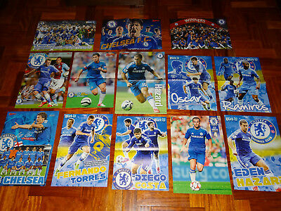 Lote Posters Chelsea Fc Football Premier League Hazard Willian Champions Torres