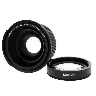 52mm 0.35x HD Wide Angle Fisheye Lens for Canon 60D 750D 650D Rebel T6i T6