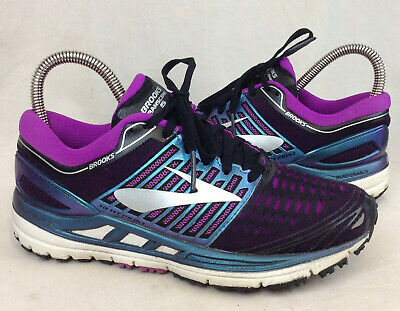 d82c2f40634 Brooks Transcend 5 Size 6 US Women s Black Purple Blue Silver Running Shoes
