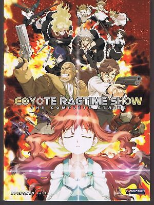 Coyote Ragtime Show Complete Series 2-DVD  Box Set Anime Eps 1-12 Funimation