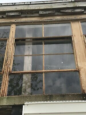 Vintage Industrial Factory Steel Casement Windows 8 Pane With Windows Open