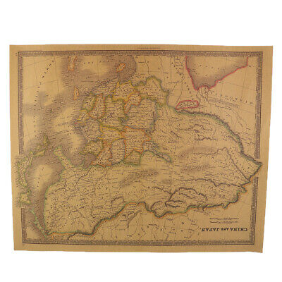 Vintage World Map Wall Art for Living Room Office Hotel Large Wall Poster