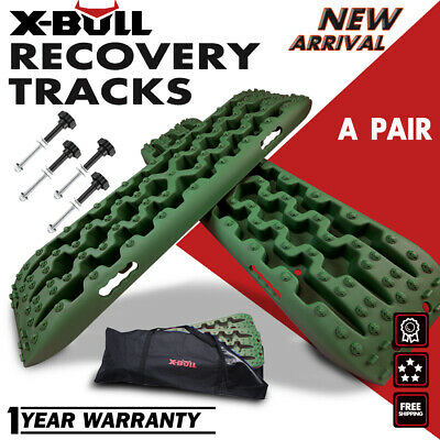 X-BULL Recovery Tracks Sand Tracks Traction Snow Off Road Tire Ladder 4WD Olive