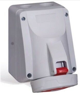 Legrand P17 Tempra Pro Series Ip66/67 Red Surface Mount 32A 415V 821-2062