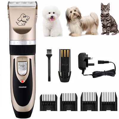 OMORC Electric Dog Clippers Low Noise Pet Clippers Rechargeable Cordless Dog Pet
