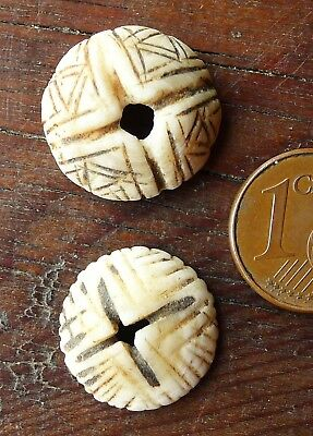 17mm Pearl Shell Antique Mauritania Antique Mexican Shell Bead Africa