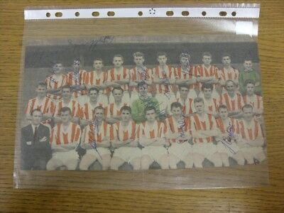 "1961/1962 Autograph(s): Stoke City - Team Group [12""x 6""] Hand Signed By 11  (Co"