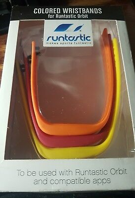Runtastic Colored Wristbands for Runtastic Orbit Activity Trackers (Set of 3)