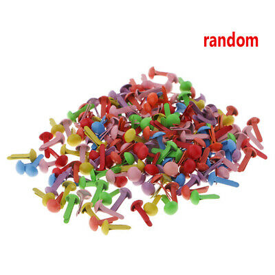 200pcs 4.5mm Colorful DIY Paper Fastener Mini Brads Craft Scrapbooking Decor