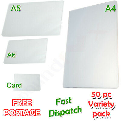 MIX Variety Set A4 + A5 + A6 + CARD Size Laminating Pouches 150 micron Laminator