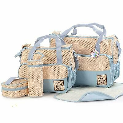 Born Baby Nappy Changing Bag Set 5pcs Mummy Maternity Hospital Organiser Diaper