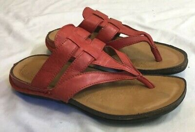 b07c1c39d WOMENS ROCKPORT ROSY Red Leather Flip Flop Sandals Size 6 M -  14.99 ...