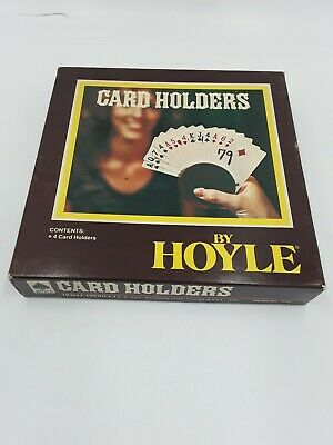Vintage Box Of Hoyle Easy Grip Card Holders 4 Per Box 4 Different Colors 1980