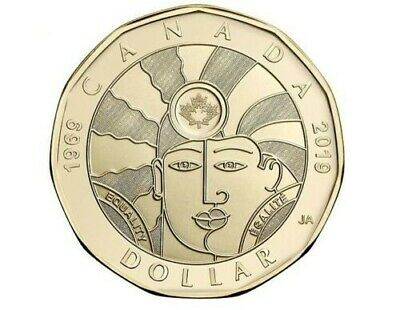 BRAND NEW! 2019 $1 Dollar EQUALITY Coin Canada Loonie By RCM