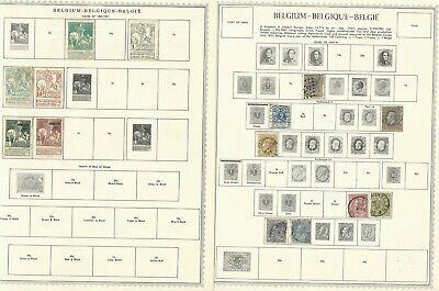 Belgium: Rest of collection in sheet used approximately 300 stamps. BL23