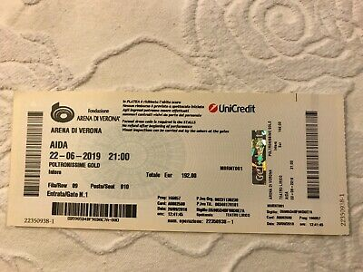 Opera ticket AIDA Verona