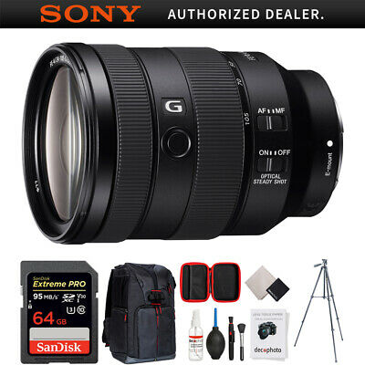 Sony FE 24-105mm F4 G OSS E-Mount Full-Frame Zoom Lens w/ 64GB Accessories Kit