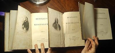 OLIVER TWIST REAL 1st EDITION CHARLES DICKENS 1837 ULTRA RARE BOOKS AUTHENTIC