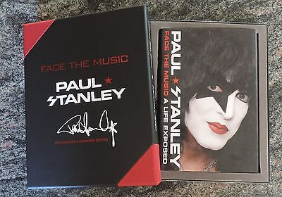 Paul Stanley Face the Music: A Life Exposed Deluxe Leather .AUTOGRAPH SIGNED COA