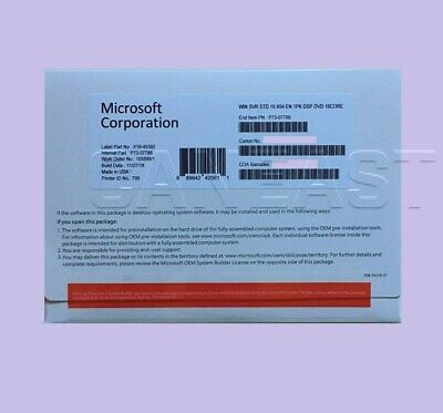 Microsoft Windows Server 2019 Standard 64bit OEM P73-07788 * BRAND NEW*