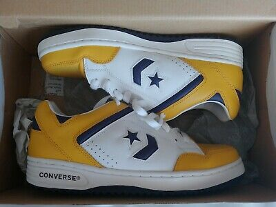 b841ff2b3bc8 VINTAGE CONVERSE WEAPON MAGIC JOHNSON LAKERS Size 8.5 Purple Gold Low  Sneakers