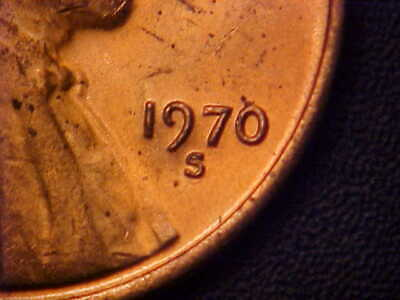 1970-S/S Rpm Lg Date Lincoln Memorial Cent Bu Red  - Great Variety! - Aa489Sxx1