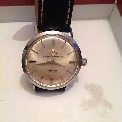 """SUPERB GENTS WRISTWATCH Compressor Automatic By """"WATCHES OF SWITZERLAND"""" In GWO"""