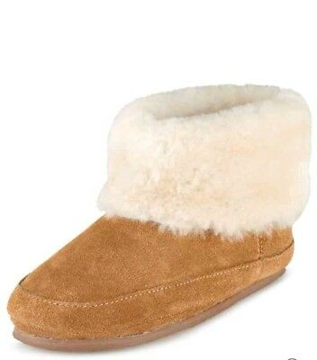 M&S Kids Shearling Slippers Boots New Size 12 30.5 Marks And Spencer Leather