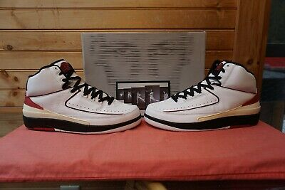939dfbe4fafce2 NIKE 308308-161 2004 Air Jordan 2 Retro White Varsity Red Black Sz ...