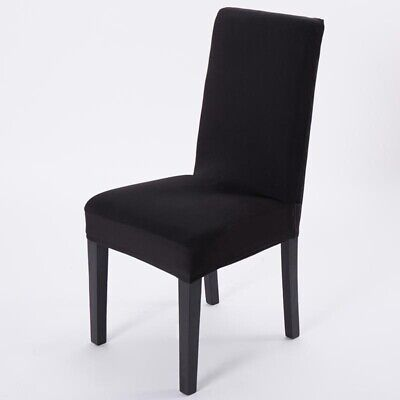 Black Stretch Dining Chair Cover Removable Slipcover Protector Washable Banquet