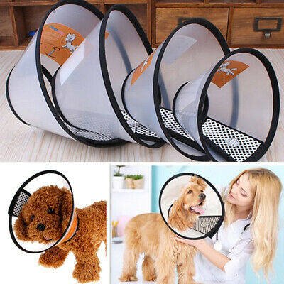 Pet Dog Cat Puppy Anti-Bite Neck Collar Cone Funnel Cover Safety Protector Grand