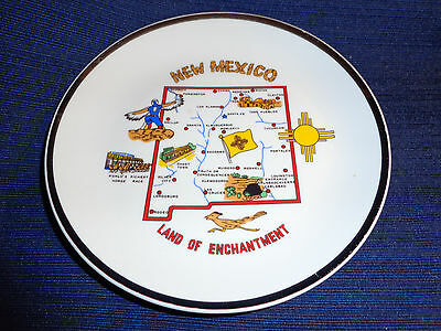 """Vtg Collectible 7-1/4"""" New Mexico Land of  Enchantment Souvenir State Plate"""
