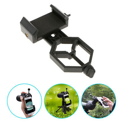 Mobile CellPhone Telescope Adapter Holder Mount Bracket Spotting Scope Black