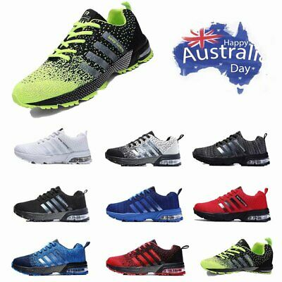 Mens Womens Trainers Running Breathable Shoes Sports Casual Sneakers Athletic AU