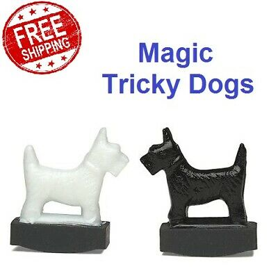 NEW Original Tricky Dogs Magic Trick Magnetic Scottie Dog Magnet Gifts