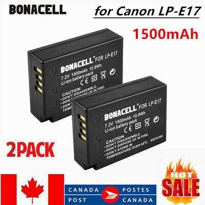 2× Replacement LP-E17 Battery for Canon EOS T6s 760D T6i 750D Camera 1500mah CA