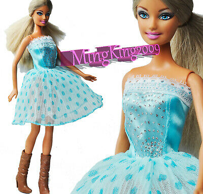 New Cute (Light Blue)  Mini Dresses&Clothes for 1/6 (11.5 Inch)  BJD Doll