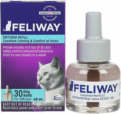 """Ceva Feliway Plug-in Diffuser Refill for Cats 48ml""""FREE-SHIPPING"""""""